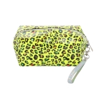 AO893 Neon Color & Leopard Pattern Cosmetic/Travel Bag, Mustard