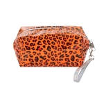 AO893 Neon Color & Leopard Pattern Cosmetic/Travel Bag, Orange