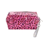 AO893 Neon Color & Leopard Pattern Cosmetic/Travel Bag, Fuchsia