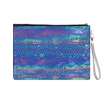 AO894 Multi Color Python Pattern Cosmetic Bag, Navy