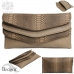 BAG449 Two Tone Leather Clutch Bag