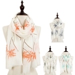 C8288 PALM TREE OBLONG SCARF