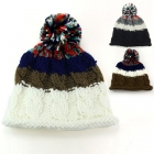 CAP027 Mixed color Pompom Hat