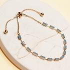CB-19484 Baguette Bead Slide Bracelet, GBL
