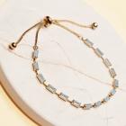CB-19484 Baguette Bead Slide Bracelet, GWT