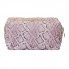 CB0807 Glitter Python Cosmetic Bag, Purple