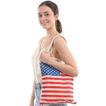 CB0809 American Flag Pattern Canvas Bag