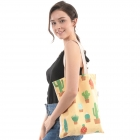 CB0810 Cactus Print Canvas Bag
