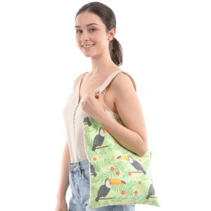 CB0811 Togo Toucan Print Canvas Bag