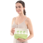 "CB0815 Two-tone Lettering ""California"" Cosmetic Bag,  Green"