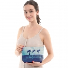 "CB0815 Two-tone Lettering ""California"" Cosmetic Bag, Navy"