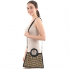 CB0854 Abstract Pattern Bamboo Handle Bag