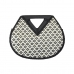 CB0855 Abstract Pattern Round Bamboo Handle Bag