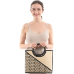 CB0856 Two Pattern Bamboo Tote Bag