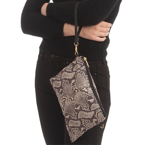 CB0925 Python Pattern Clutch/Cross-body Bag