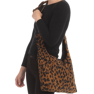 CB0929 Leopard Corduroy Cross-body Bag