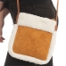 CB0933 Teddy Bear & Suede Small Cross-body Bag, Camel