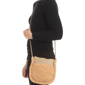 CB0934 Teddy Bear Small Cross-body Bag, Beige