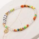 """CB-1131 """"LOVE"""" Lettering Beads Bracelet"""