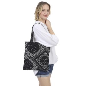 CB1442 Bandana Pattern Canvas Bag