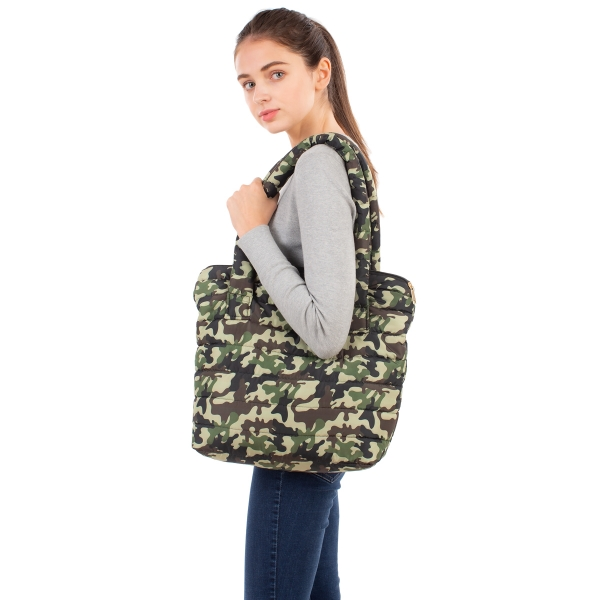 CB1804 Camouflage Pattern Padded Tote bag