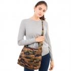 CB1833 Camouflage Pattern Corduroy Tote/Shoulder Bag