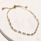 CB-19484 Baguette Bead Slide Bracelet, GCL