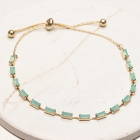 CB-19484 Baguette Bead Slide Bracelet, GMT