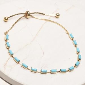 CB-19484 Baguette Bead Slide Bracelet, GTQ