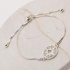 CB-2614 Circle Sun Burst Bracelet, Silver