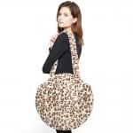 CB8250 Leopard Pattern Faux Fur Round Bag