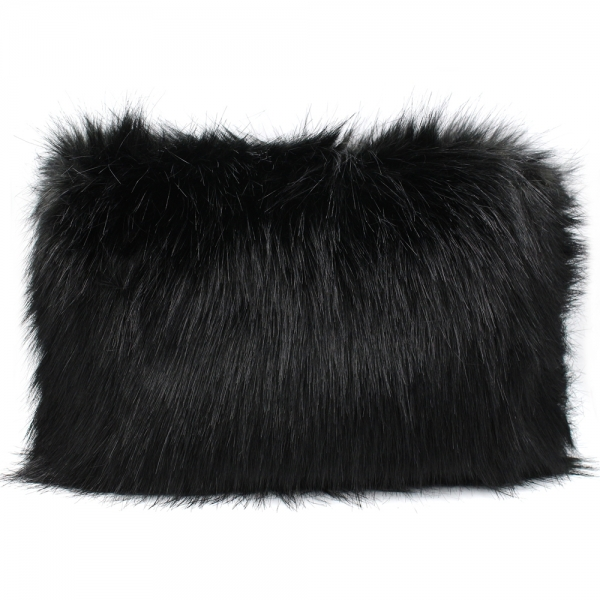 37328d2a14d CB8255 Faux Fur Hand Bag W  Chain Strap