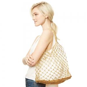 CB9654 Mesh Beach Bag, Gold