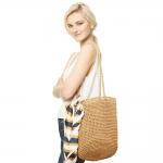 CB9655 Straw Shoulder Bag, Natural
