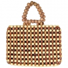 CB9681 Handmade Wooden Bead Bag With Lining