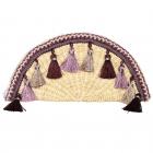 CB9685 Handmade Straw Hand Bag With Tassel, Pink