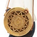 CB9686 Handmade Rattan Crossbody Bag
