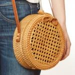 CB9693 Handmade Rattan Crossbody Bag