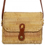 CB9694 Handmade Rattan Crossbody Bag