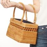 CB9695 Handmade Rattan Box Handbag