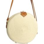 CB9702 Straw Shoulder Handbag,Ivory