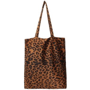 CB9721 Leopard Pattern Simple Tote Bag, Brown