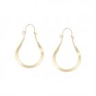 CE11-019 Metal Thin Hoop Earring