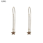 CE1364 Star Drop Linier Earring, G.RG