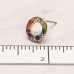 CE-19304 Multi Color Rhinestone Circle Stud Earring, GMU
