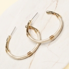 CE-2203 Embroidery Thread Wrapped Hoop Earring, GBE