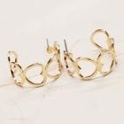 CE-2299 Heart Shape Hoop Stud Earring, Gold