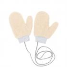 CG0351 Solid Teddy Bear Feel Mitten Gloves, Beige
