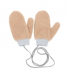 CG0351 Solid Teddy Bear Feel Mitten Gloves, Camel