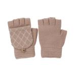 CG0352 Solid W/Crochet Flip Cover Gloves, Beige